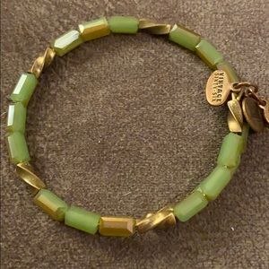 Pretty beaded green and gold Alex and Ani wrap